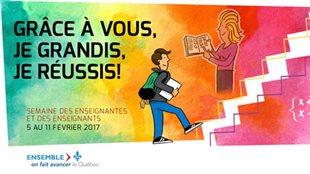 Affiche de la Semaine des enseignants 2017