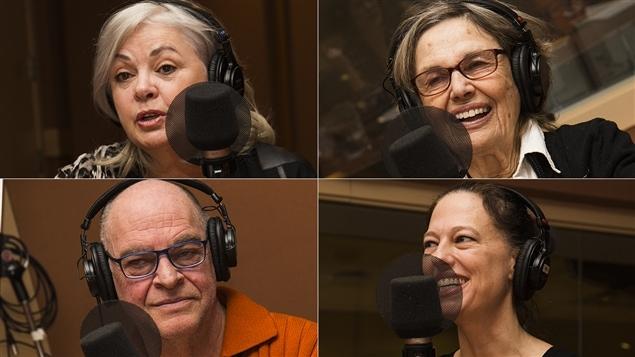Louise Portal, Madeleine Legault, Jean Lalonde et Sophie Lambert