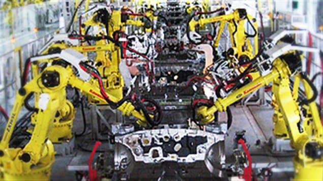 Automobile manufacturing was once a male dominated industry, but technology is increasingly eliminating those jobs. In some cases entire manufacturing plants exist with virtually no workers, called *lights out* as robots don't need to *see*.