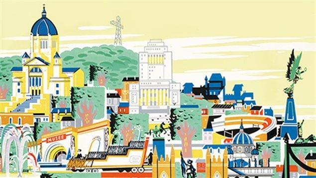 De la couverture de l'album illustré Traces de l'histoire de Montréal de Serge Joyal, Paul-André Linteau et Mario Robert.