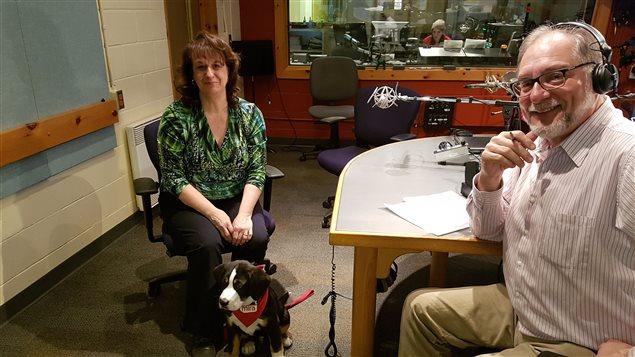 Brigitte Gagnon et son chien Cowboy