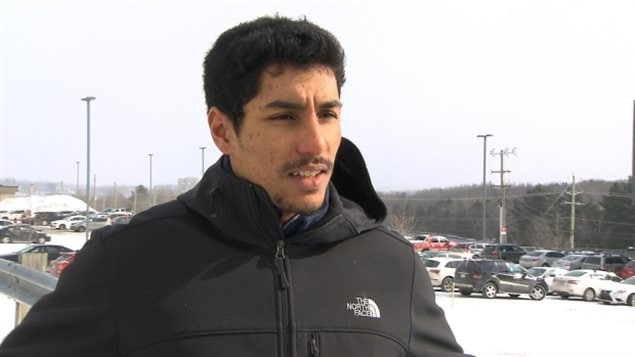 Canadian citizen Yassine Aber was not allowed into the United States even though he was born in Canada and was carrying a Canadian passport.