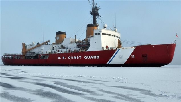 In this photo taken Tuesday, Oct. 6, 2009 and provided by the U.S. Coast Guard, the Coast Guard Cutter Polar Sea breaks ice in the Northern Arctic ocean in support of various scientific research projects. A 1985 voyage by the icebreaker through the Northwest Passage caused a diplomatic incident between the U.S. and Canada.