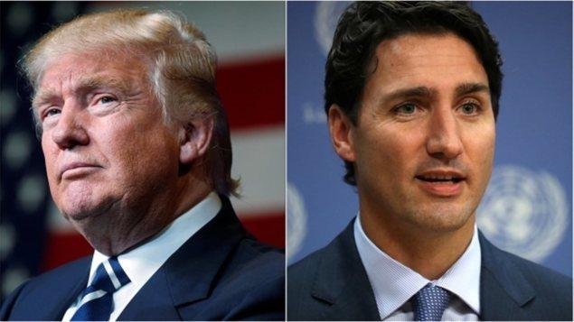 Donald Trump et Justin Trudeau