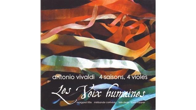 Pochette de l'album <i>Antonio Vivaldi : 4 saisons, 4 violes</i> de l'ensemble Les voix humaines, paru sous étiquette indépendante