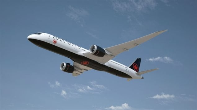 Air Canada's new look includes a lot of black.