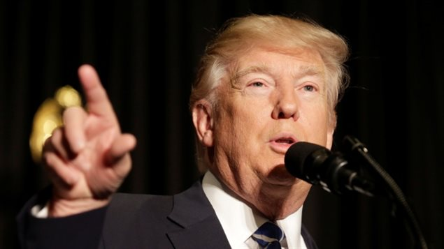 In a public speech, U.S. President Donald Trump said the courts were 'so political' in making their decisions on his travel ban.