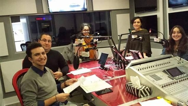 Avo Kazajian et son équipe de Radio Moyen-Orient