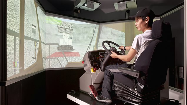 Haul truck training simulator (Agnico Eagle Mines Ltd.)