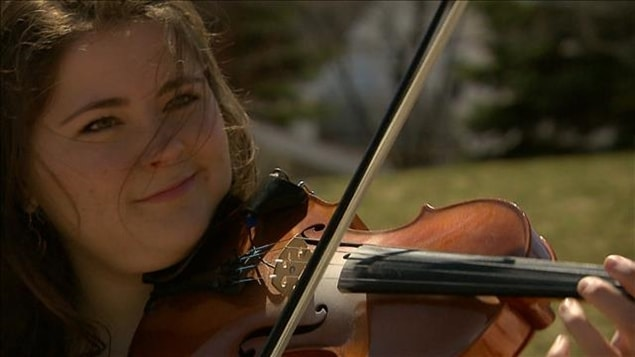 Christine Melanson au violon