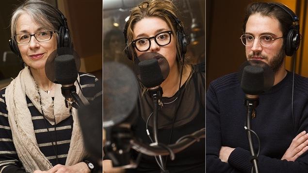 Marie Lavallée, Marie-Ève Perron et Adrien Bletton