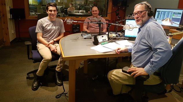 De gauche à droite: Charles Paquet, Claude Paquet et Michel Plourde à l'émission Boréal 138