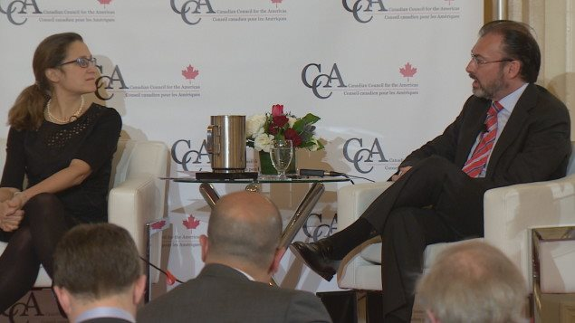 Presidente de México y canciller de Canadá destacan buen momento de relación