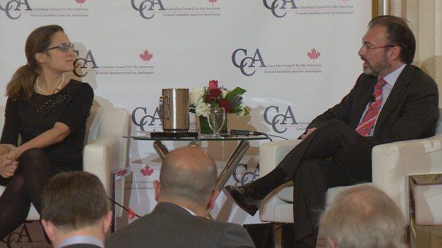 Reafirman México y Canadá TLC trilateral