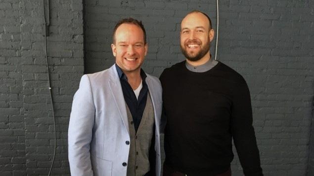 Olivier Dufour et Byron Mikaloff, les concepteurs du spectacle Ensem