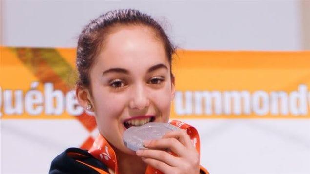 Alicia Miville lors de la Finale de 2015 à Drummondville
