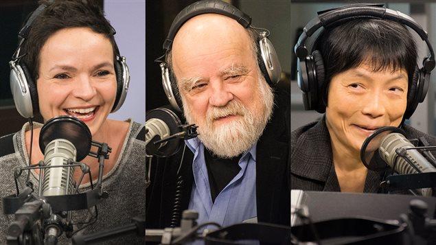 Anaïs Barbeau Lavalette, Ying Chen et Serge  Bouchard étaient de passage à l'émission Les matins d'ici.
