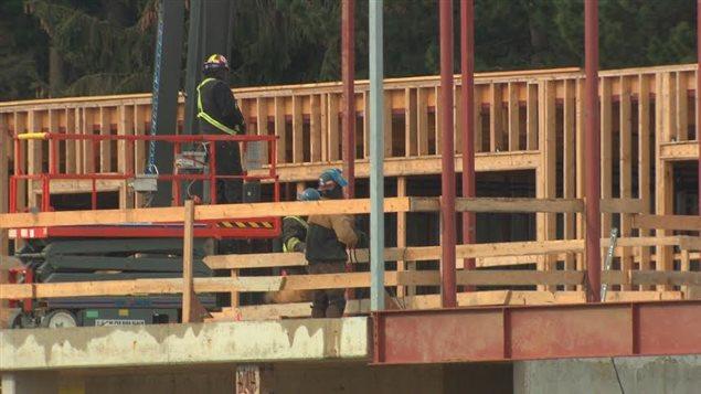 La nouvelle École des Pionniers en construction.