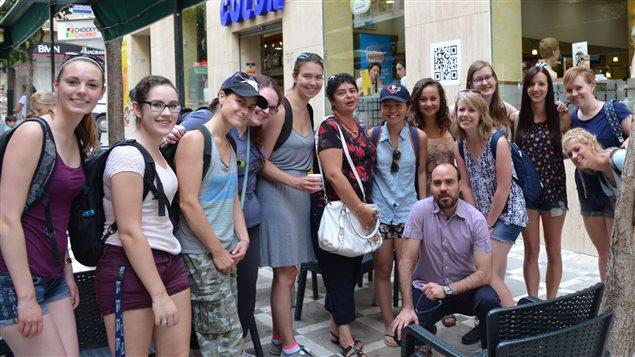 Con esudiantes en Jaen, España.