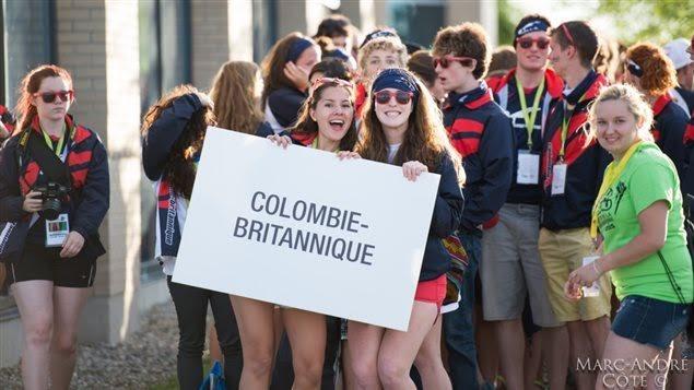 Délégation de la C.-B. aux Jeux de la francophonie canadienne.