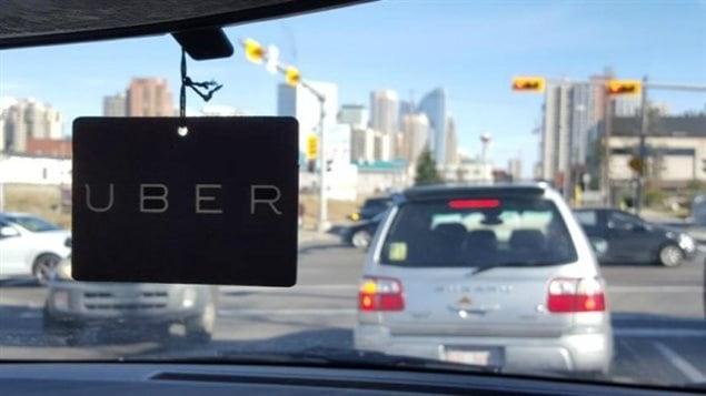 L'entreprise de transport Uber offre ses services à Calgary. © CBC
