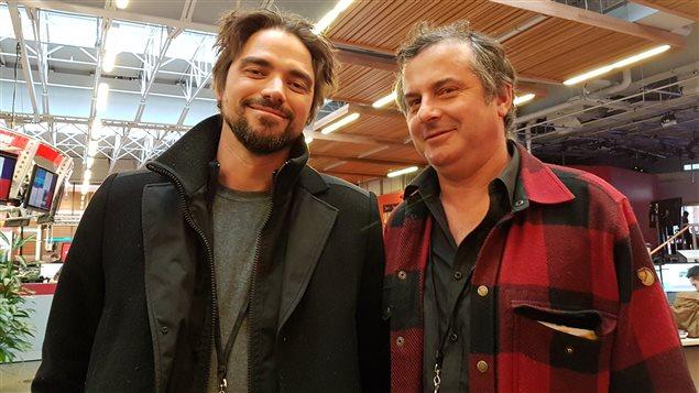 André Thériault et Eloi (gauche).