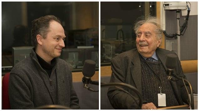Emmanuel et Naïm Kattan. Père et fils au micro de Michel Désautels.