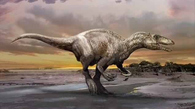 Illustration de l'espèce de dinosaure découverte par Philipp Currie.