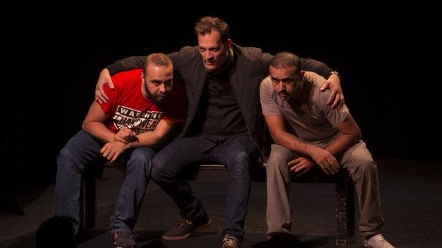 De gauche à droite, les acteurs de « Djihad » : Ismaël Saïdi, James Deano et Reda Chebchoubi.