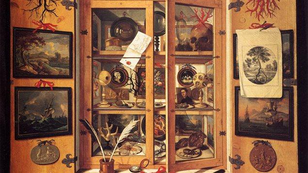 Le cabinet de curiosités, peinture de Domenico Remps, florence, 1689.