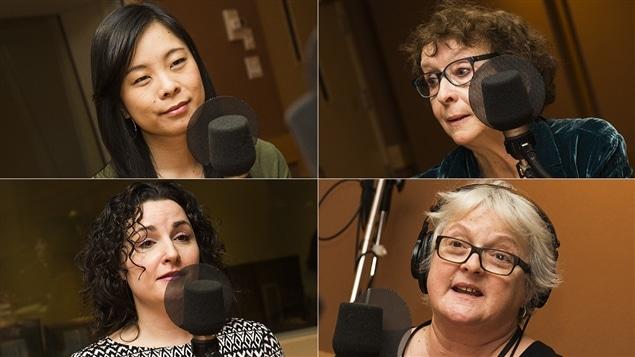 Cathy Wong, Ariane Émond, Marilyse Hamelin et Lise Ravary