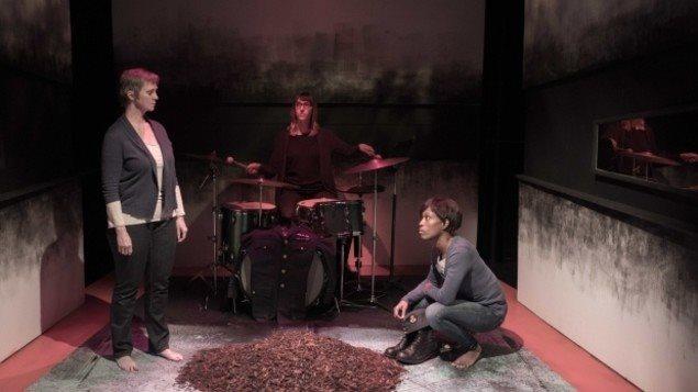 Photo des acteurs sur la scène