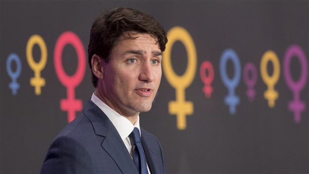 Canadian Prime Minister Justin Trudeau spoke at several events marking International Women's Day in Ottawa.