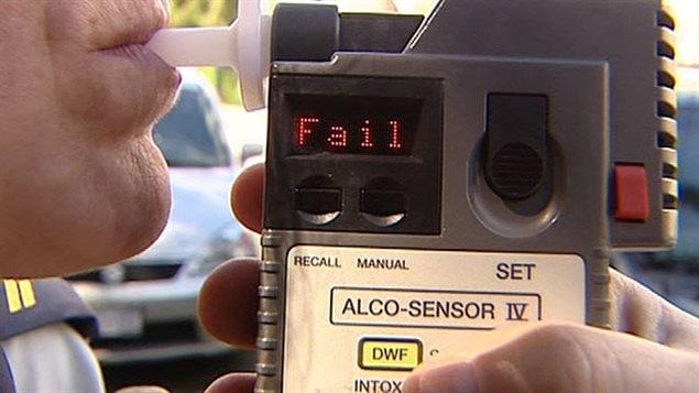 A roadside breath tester determines the level of blood-alchohol content (BAC). Failing this test means a trip to the police station.
