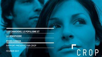 Page couverture du sondage « Les Canadiens, le populisme et la xénophobie »