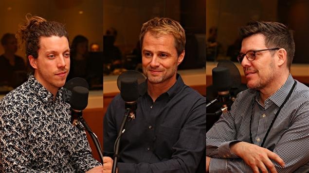 Samuel Larochelle, Robert Pilon et Jean-Charles Panneton au micro de <em>Médium Large<em>