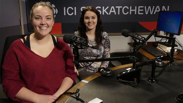 Kya Kokott et Mallory Horn, deux futures enseignantes de français de base et d'immersion.