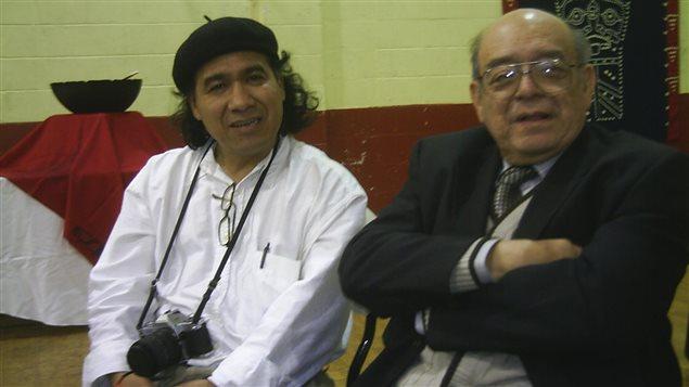 Raúl Gatica con Samuel Ruiz