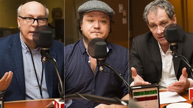 Guy Amyot, Frédéric Bérard et Michel Cormier