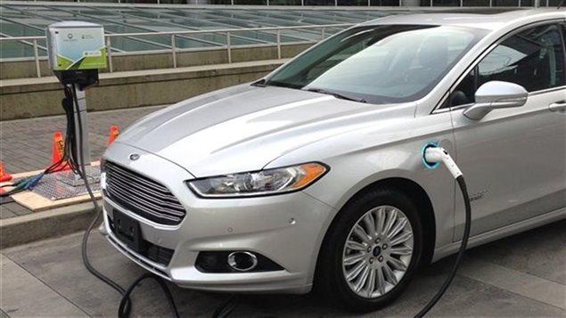 Une voiture électrique
