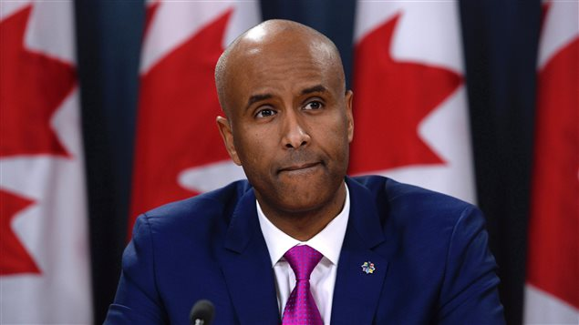 Immigration, Refugees and Citizenship Minister Ahmed Hussen speaks during a news conference, Tuesday, February 21, 2017 in Ottawa.