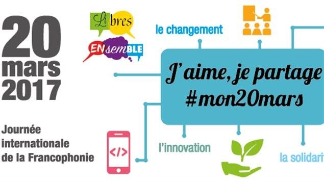 Image tirée de l'affiche oficielle de la Journée internationale de la francophonie 2017 - page facebook de l'OIF