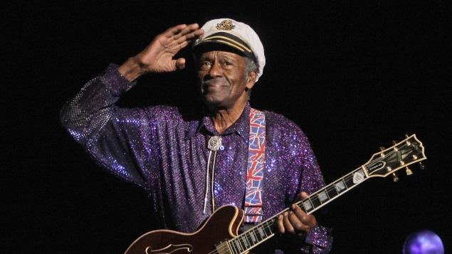 Chuck Berry, lors d'un concert à Paris, en 2008.