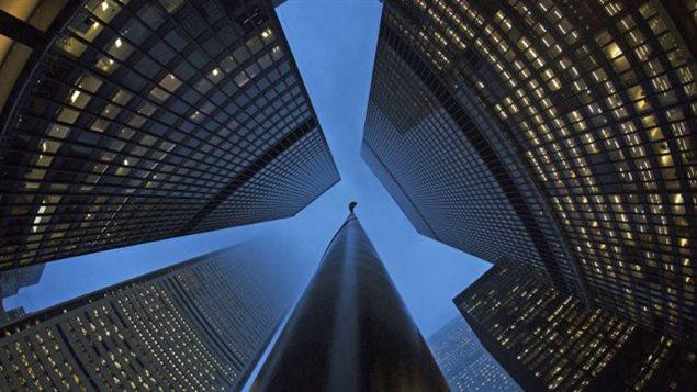 Le quartier des grandes banques dans la ville de Toronto.