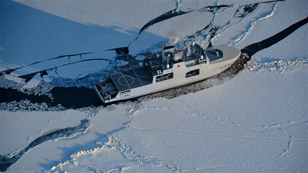 Artist's impression of the Harry Dewolf-Class Arctic/Offshore Patrol Vessel