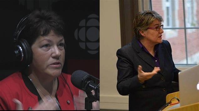 Claire Bélanger-Parker, cofondatrice du Bureau international des conférenciers autochtones, et Nathalie Kermoal, professeure à la faculté des études autochtones à l'Université de l'Alberta