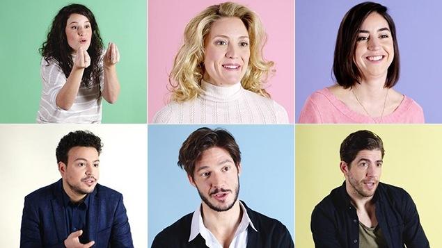 Image mosaïque avec les 6 personnages de la série.