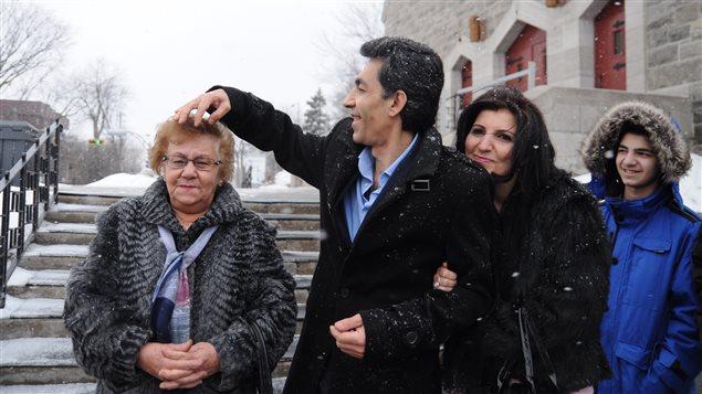 La famille Bahini installée depuis un an à Laval, originaire d'Alep.