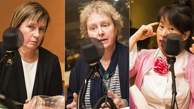 Lise St-Charles, Brigitte Harrisson et Kim Thúy