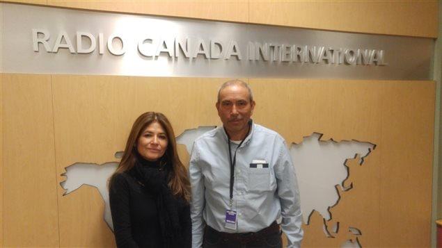 Yanira Cortez Estevez (El Salvador) y Aleisar Arana Morales (Guatemala) en Radio Canadá Internacional.